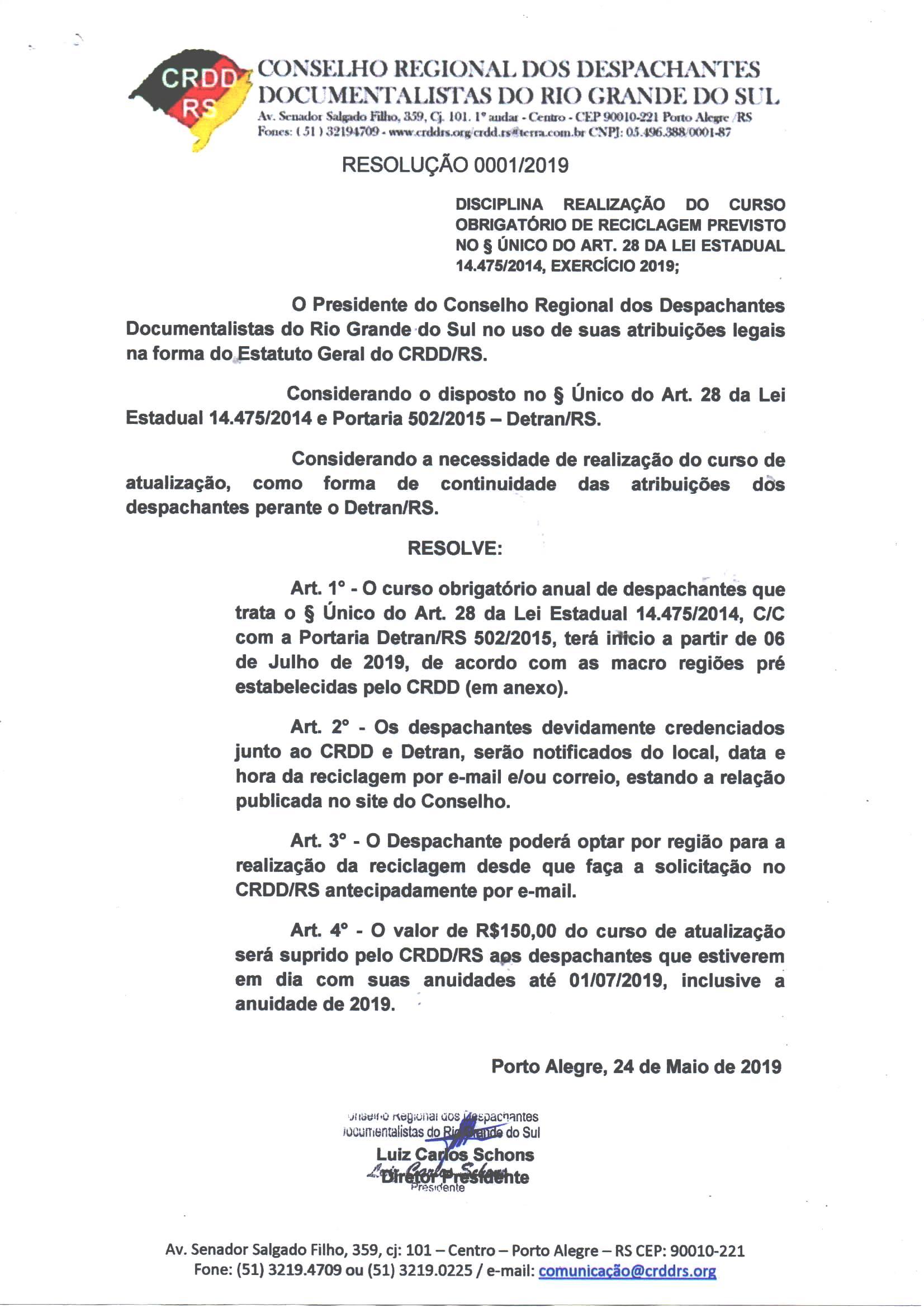Conselho Regional Dos Despachantes Do Rio Grande Do Sul